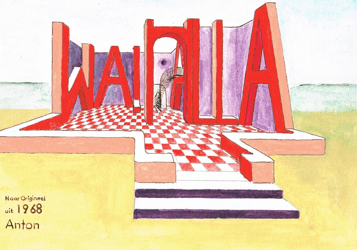 <em>Walhalla 1968</em> | acrylic painting on paper | 24 × 30 cm